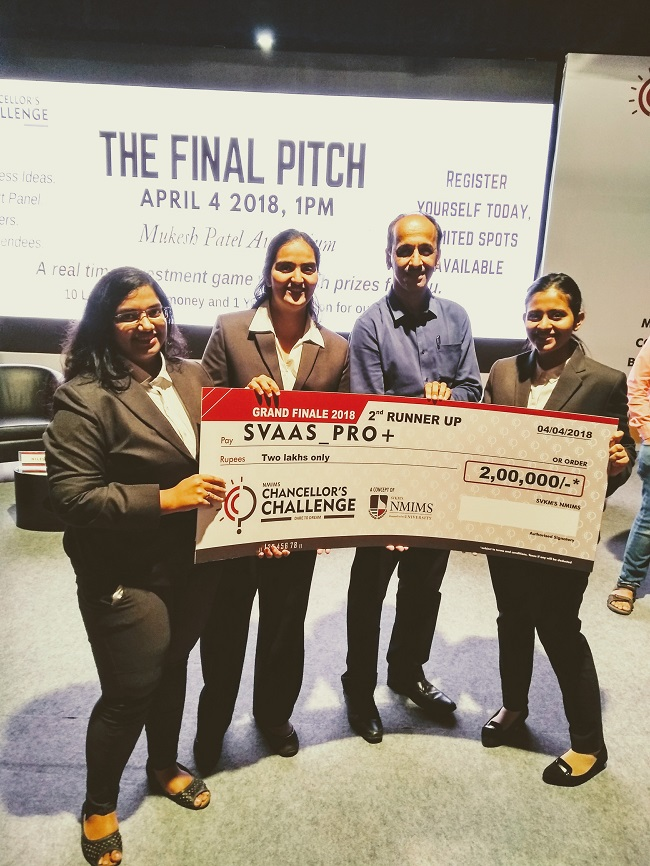 Chancellors Challenge Winners 2018 |NMIMS | School of
